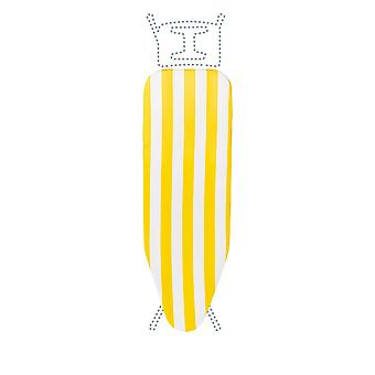 Granit Replacement Ironing Board Cover | Laminated Thick Felt | Adjustable Size Fits up to 120 x 38cm | Yellow Stripe