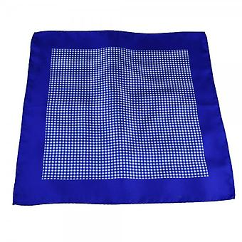Ties Planet Antonio Boselli Royal Blue & White Kockás Pocket Square zsebkendő