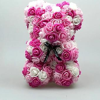 Cute Foam Flowers Love Bear Dolls Present For Party Decoration