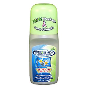 Naturally Fresh Roll On Deodorant, Tropical Breeze 3 Oz