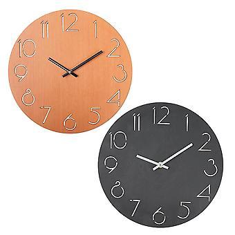 "12 Creative Wall Clock European Wood Watch Moderni Design Kodin sisustus Hiljainen"""