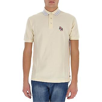 Gucci 636403xjcxw9131 Men's Beige Cotton Polo Shirt