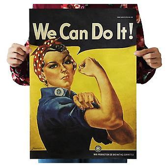 Wir-kann-do-es Vintage Kraft Papier-Poster für Home-Dekoration