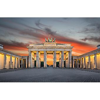 Muur muurschildering Brandenburger Tor