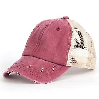 Rento Ponytail Baseball Cap Naisten Säädettävä Paljetit Caps Kesähatut Vaellus
