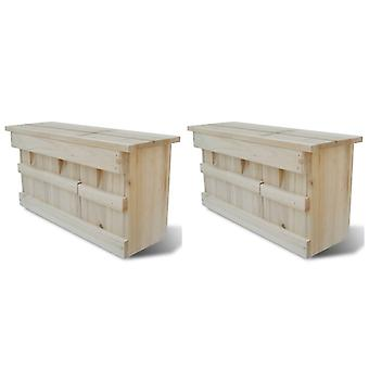 Sparrow house 2 pcs. wood 44 x 15.5 x 21.5 cm