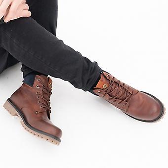 Wrangler Arch Hombres Botas de Cuero Rojo/marrón