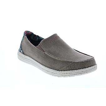 Chaussures décontractées Skechers Melson Ralo Mens Brown Canvas & Slip Ons Casual Shoes
