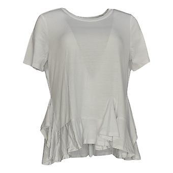 DG2 by Diane Gilman Women's Top White Polyester Short Sleeve 677-991