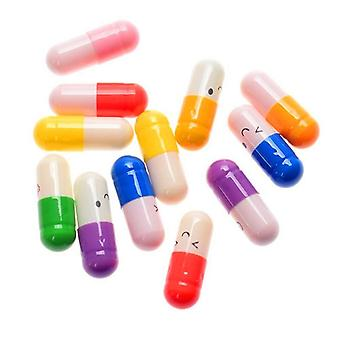 50 Pcs/lot Cute Expression Capsules, Love Pills Put In Wishing Drift Bottle