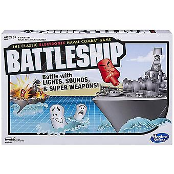 Hasbro gaming battleship game electronic board game for kids ages 8 and up, 2 players, strategy nava