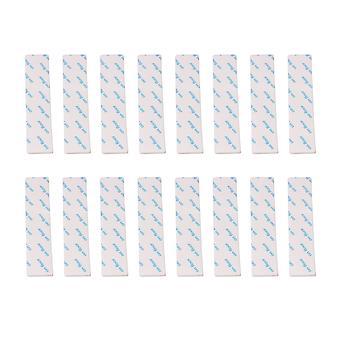 16PCS Rectangle Anti Slip Adhesive Rug Grips for Carpet Home 13CM White
