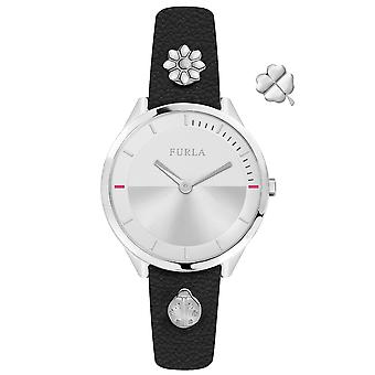 Furla Women'S Silver Dial Calfskin Leather Watch