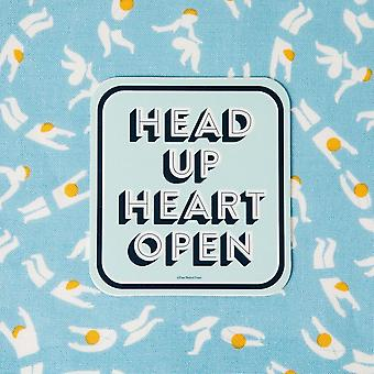 Head Up Heart Open - Autocollant vinyle décalcomanies