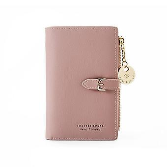 Luxury Leather, Short Wallet Clutch - Money Coin, Card Holders, Purse Slim
