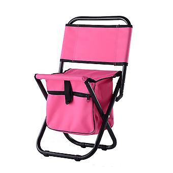 Blue OxfordCloth PVC Waterproof Coating Steel Pipe Multifunctional Folding Chair