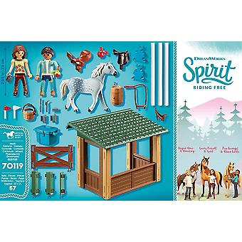 Playmobil DreamWorks Spirit 70119 Riding Arena com Lucky e Javier