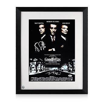 Ray Liotta Signed Goodfellas Poster. Framed