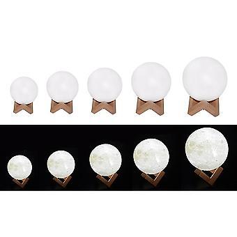 3d Print, Oplaadbare Maanlamp- Led Nachtlamp