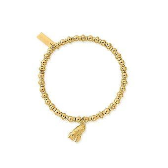 ChloBo GBDS3088 Didi Gold Tone Sparkle Rocket Bracelet