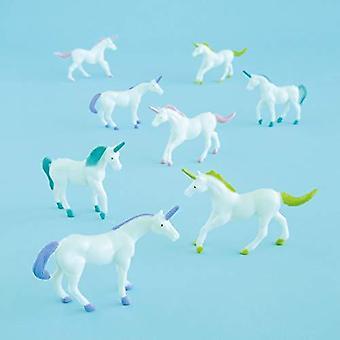 Unique party 84721 - plastic unicorn party bag fillers, pack of 8