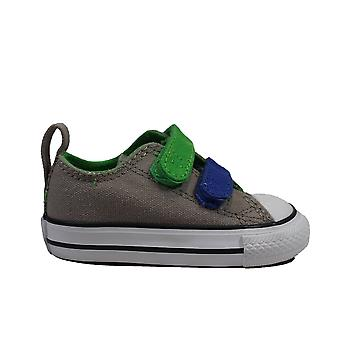 Converse Chuck Taylor All Star 730379C Grey Canvas Childrens Unisex Rip Tape Sneaker Shoes