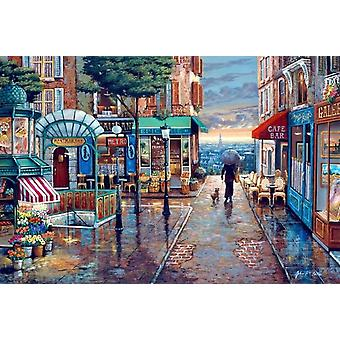 SuperPower 1000 Piece Romantic Town Street Sunset Landscape Painting