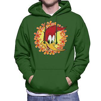 Woody Woodpecker Floral Border Men's sudadera con capucha