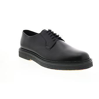 Geox U Broderik Mens Black Leather Oxfords & Lace Ups Plain Toe Shoes