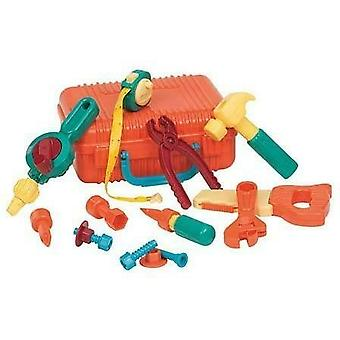 Battat Kids Tool Kit Play Set Pretend Play Contractor's Tool Box and 16 piece