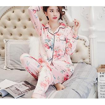 Set di abbigliamento da notte/pigiama in seta satinata