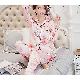 Satin Silk Pajamas's Sleepwear/nightwear Set