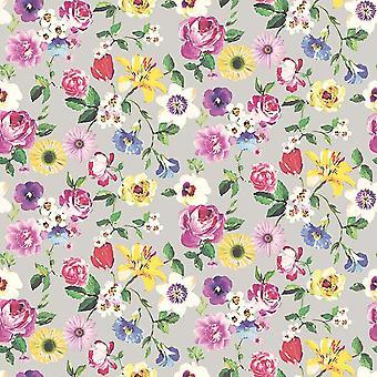 Lizzie Grey/Multi Wallpaper