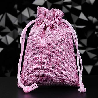 Drawstring Burlap Jute Bags For Jewelry Packaging/candy Can