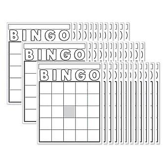 Carte Bingo vuote, Bianco