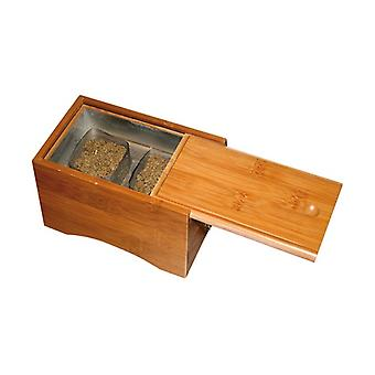 Wooden Box for Moxa Powder Two Containers 1 unit