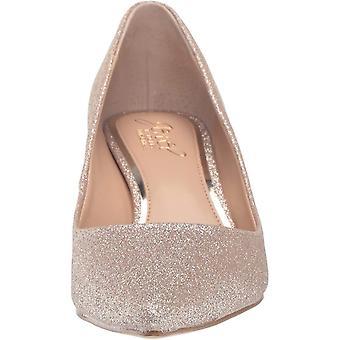 Jewel Badgley Mischka Mujer's ROYALTY Zapato, Gold Glitter, 7.5 M US