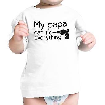 Min Papa Fix Hvid Cute Grafisk Infant T-shirt