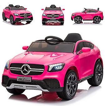 ES-Toys Kinder Elektroauto Mercedes GLC pink Ledersitz EVA-Reifen Fernbedienung
