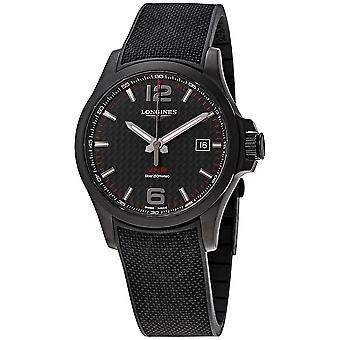 Longines Conquest V.H.P. Perpetual Quartz Black Carbon Dial Men's Watch L3.726.2.66.9