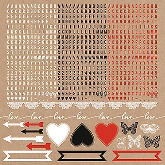 Kaisercraft - Mix and Match 12x12 Sticker Sheet - Alpha