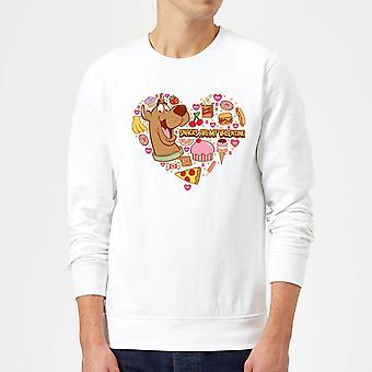 Scooby Doo Snacks Are My Valentine Long Sleeve Sweatshirt Jumper Top - White