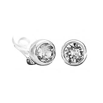 Traveller Clip Earring - Rhodium Plated - Swarovski Crystals - 156241 - 432