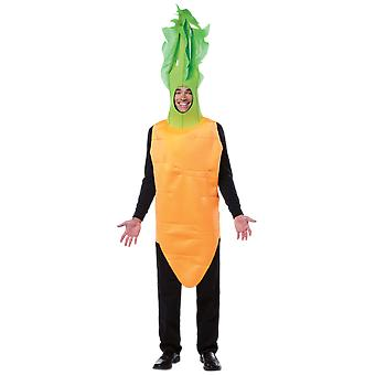 Adult Deluxe Carrot Food Easter Fancy Dress Costume