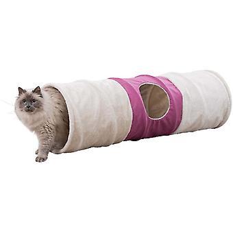 Trixie Speeltunnel Xxl Pluche Beige/Fuchsia (Katten , Speelgoed , Tunnels)
