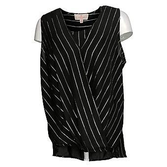 Laurie Felt Women's Top Sleeveless Wrap Blouse Black A352556