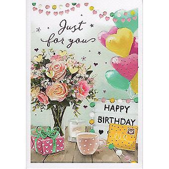ICG Ltd Open Birthday Card Essence Range - Balloons