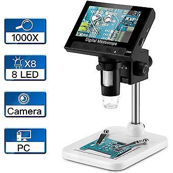 FengChun 4,3-Zoll-LCD-Digital-USB-Mikroskop-Endoskop Aufnahme 1000-facher Vergrerungszoom, 8