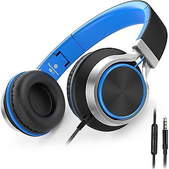 FengChun C8 Kopfhörer mit Kabel Mikrofon und Lautstärkeregler Faltbar 3,5mm Headsets On-Ear für
