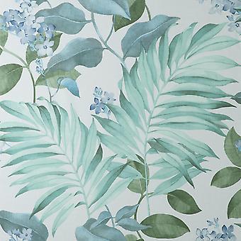 Eden Tropical Grey Wallpaper